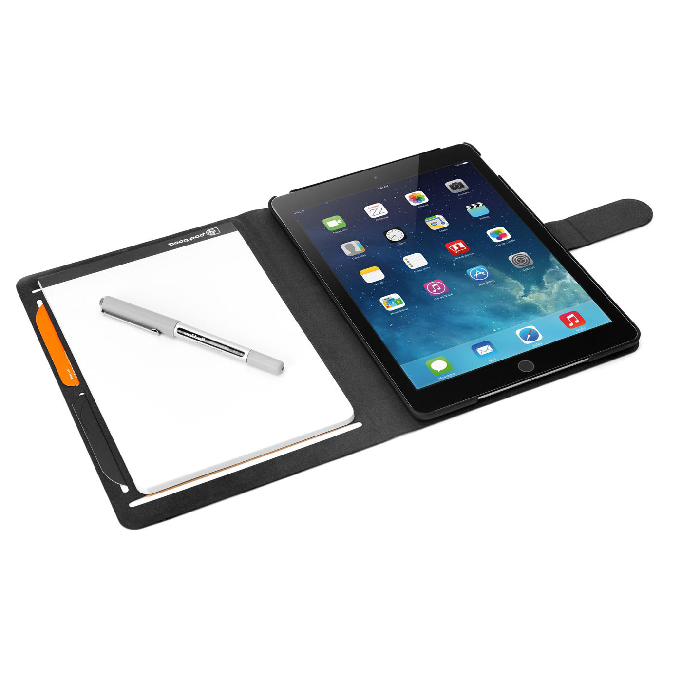 booq booqpad folio case with notepad and polycarbonate case ipad air 2 new 898296004365 ebay. Black Bedroom Furniture Sets. Home Design Ideas