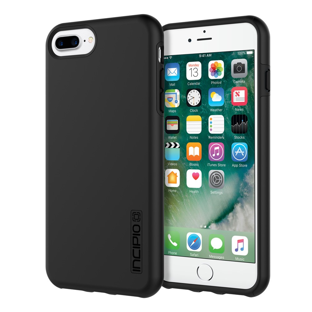 sports shoes 1f951 580e5 Details about INCIPIO DualPro hard shell/shock absorbing case, iPhone 6/7  Plus, 8 Plus, Black
